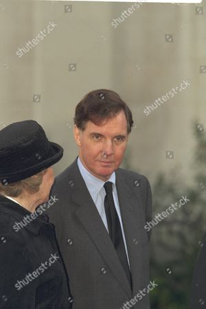 The Funeral Of Enoch Powell At Saint Margaret's Church Westminster..jonathan Aitken Pictured Outside The Church.