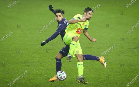 Anderlecht's Anouar Ait El Hadj and Gent's Milad Mohammadi fight for the ball during a soccer match between RSCA Anderlecht and KAA Gent, Sunday 31 January 2021 in Anderlecht, on day 23 of the 'Jupiler Pro League' first division of the Belgian championship.