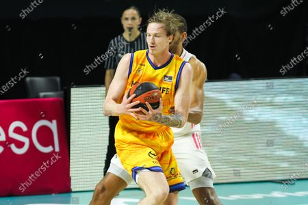 Olek Balcerowski of Herbalife Gran Canaria in action during the Liga ACB basketball match played between Real Madrid and Herbalife Gran Canaria at WiZink Center stadium on January 31, 2021 in Madrid, Spain.