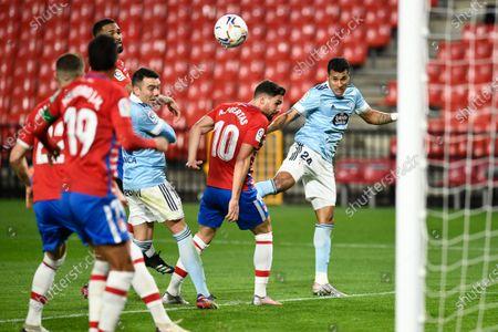 RC Celta de Vigo player Jeison Murillo seen in action during the La Liga Santander  match between Granada CF and RC Celta de Vigo at Nuevo Los Carmenes Stadium in Granada. (Final score: Granada CF 0:0 RC Celta de Vigo)