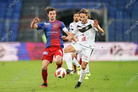 Numa Lavanchy (Lugano) versus Valentin Stocker (Basel)