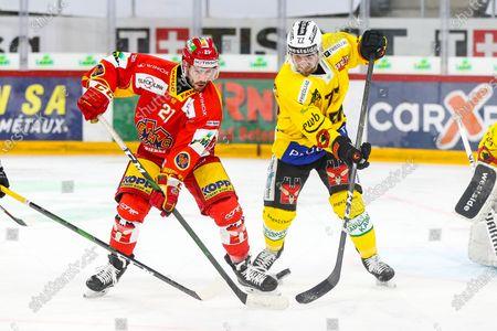 Editorial photo of EHC Biel-Bienne - SC Bern, Swiss National League, Switzerland - 31 Jan 2021