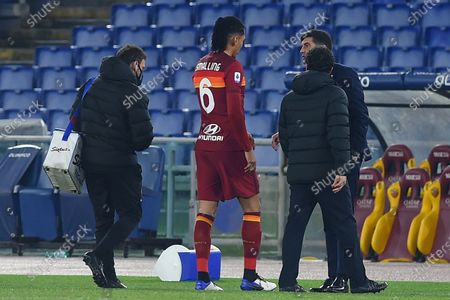 Chris Smalling of Roma injuried