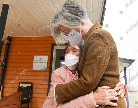 Editorial image of South Korean foreign minister Kang meets victim of Japan's wartime sexual slavery, Pohang, Korea - 01 Feb 2021