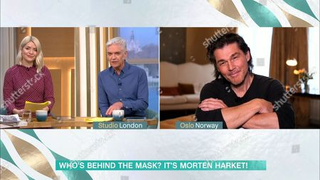 Stock Image of Holly Willoughby, Phillip Schofield and Morten Harket