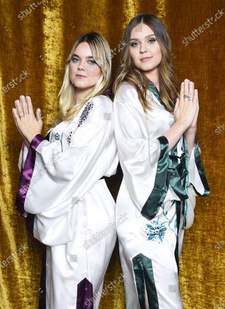 "Stock Picture of First Aid Kit, Klara Soderberg and Johanna Soderberg, at the ""Don't Stop the Music"" gala in Stockholm, Sweden, on January 30, 2021, organized by the Swedish Music Foundation to support everyone in the music industry who has been affected by the coronavirus pandemic."