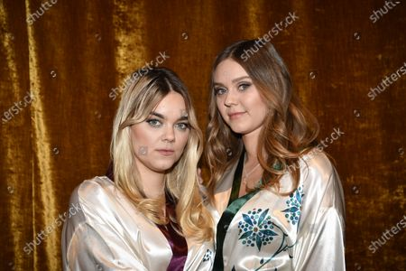 "First Aid Kit, Klara Soderberg and Johanna Soderberg, at the ""Don't Stop the Music"" gala in Stockholm, Sweden, on January 30, 2021, organized by the Swedish Music Foundation to support everyone in the music industry who has been affected by the coronavirus pandemic."