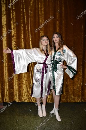 "Stock Photo of First Aid Kit, Klara Soderberg and Johanna Soderberg, at the ""Don't Stop the Music"" gala in Stockholm, Sweden, on January 30, 2021, organized by the Swedish Music Foundation to support everyone in the music industry who has been affected by the coronavirus pandemic."