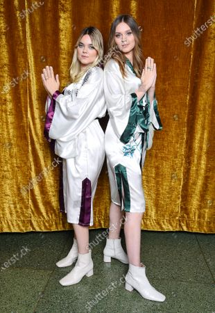 "Stock Image of First Aid Kit, Klara Soderberg and Johanna Soderberg, at the ""Don't Stop the Music"" gala in Stockholm, Sweden, on January 30, 2021, organized by the Swedish Music Foundation to support everyone in the music industry who has been affected by the coronavirus pandemic."