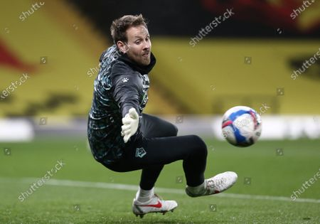Stock Picture of Rob Elliot of Watford warms up