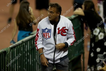 Stock Picture of Former NFL Placekicker Nick Lowery watches the action during the Hula Bowl at Aloha Stadium in Honolulu , HI - Andrew Lee/CSM