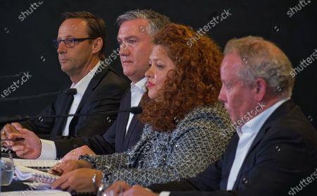 Editorial photo of AFL Collingwood's presser in Melbourne, Australia - 01 Feb 2021