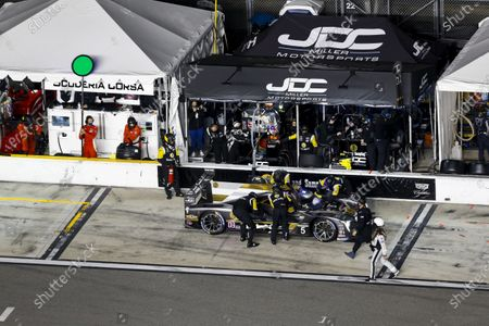 Stock Image of DAYTONA INTERNATIONAL SPEEDWAY, UNITED STATES OF AMERICA - JANUARY 31: #5 JDC-Miller MotorSports Cadillac DPi, DPi: Pit Stop, Tristan Vautier, Loic Duval, Sebastien Bourdais during the Daytona 24 at Daytona International Speedway on January 31, 2021 in Daytona International Speedway, United States of America. (Photo by Jake Galstad / LAT Images)
