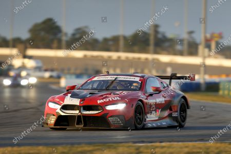 DAYTONA INTERNATIONAL SPEEDWAY, UNITED STATES OF AMERICA - JANUARY 31: #25 BMW Team RLL BMW M8 GTE, GTLM: Timo Glock, Philipp Eng, Bruno Spengler, Connor De Phillippi during the Daytona 24 at Daytona International Speedway on January 31, 2021 in Daytona International Speedway, United States of America. (Photo by Jake Galstad / LAT Images)