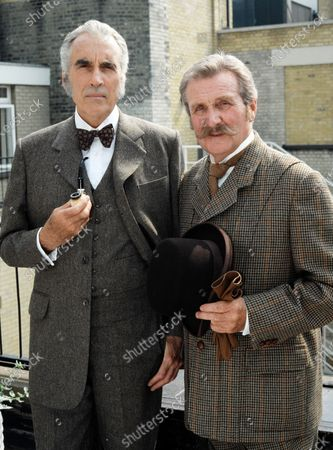 Christopher Lee and Patrick Macnee - Sherlock Holmes 1992