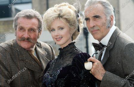 Christopher Lee, Morgan Fairchild and Patrick Macnee - Sherlock Holmes 1992