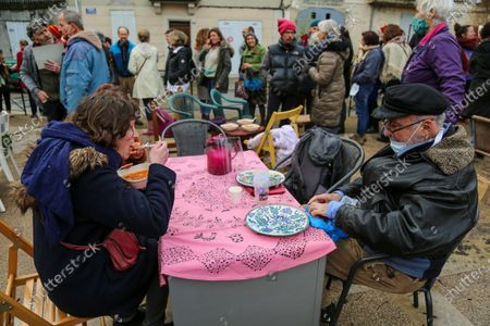 Editorial photo of Civil disobedience, Forcalquier, France - 01 Feb 2021