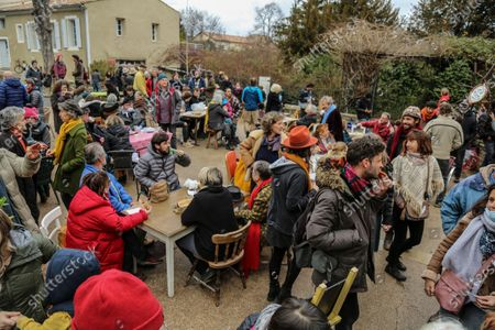 Editorial image of Civil disobedience, Forcalquier, France - 01 Feb 2021