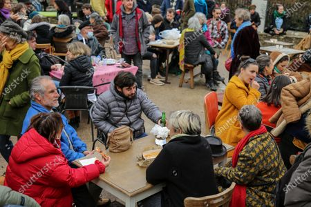 Editorial picture of Civil disobedience, Forcalquier, France - 01 Feb 2021