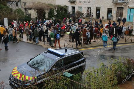 Civil disobedience in the village of the former Minister of the Interior and the former mayor of Forcalquier Mr. Christophe Castaner