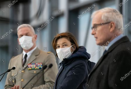 General Francois Lecointre, French Defense Minister Florence Parly and Bernard Emie.