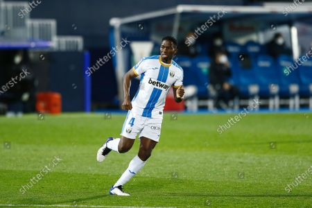 "Stock Image of Kenneth Omeruo (Leganes) - Football / Soccer : Spanish ""La Liga Smartbank"" match between CD Leganes 3-2 CD Lugo at the Estadio Municipal de Butarque in Leganes, Spain."