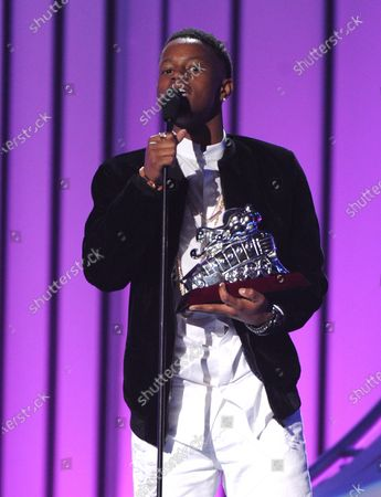 Stock Picture of Silento Charged With Murdering Cousin. Silento accepts the Best Dance Performance for 'Watch Me (Whip/Nae Nae)' on the 2015 Soul Train Awards at the Orleans Areana. Photo taken on 06 Nov, 2015 in Las Vegas, Nevada.