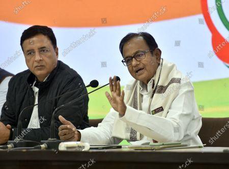 Editorial photo of Congress Leader P Chidambaram Addresses Press Conference On Union Budget 2021, New Delhi, Delhi, India - 01 Feb 2021
