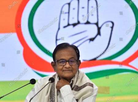 Congress leader P. Chidambaram addressing a press conference on Budget 2021-22 at AICC Headquarters, on February 1, 2021 in New Delhi, India.