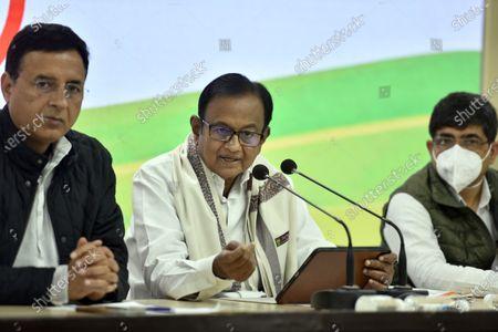 Editorial image of Congress Leader P Chidambaram Addresses Press Conference On Union Budget 2021, New Delhi, Delhi, India - 01 Feb 2021