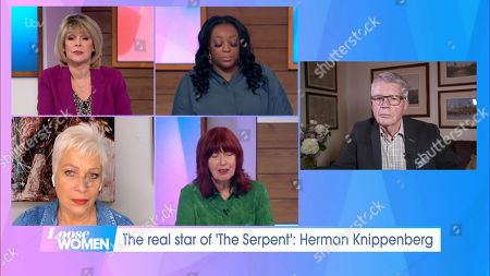 Ruth Langsford, Judi Love, Denise Welch, Janet Street-Porter and Herman Knippenberg