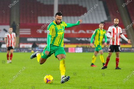 Matt Phillips of West Bromwich Albion shoots