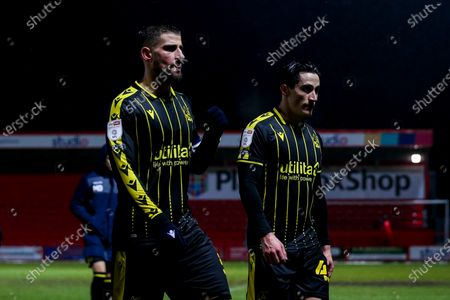 Max Ehmer and George Williams of Bristol Rovers cut dejected figures