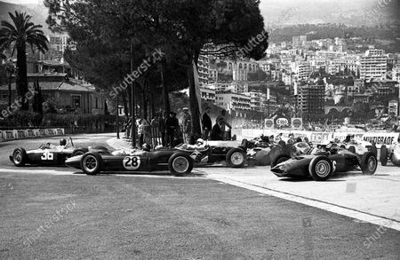 Stock Picture of Monaco GP 1961 Start