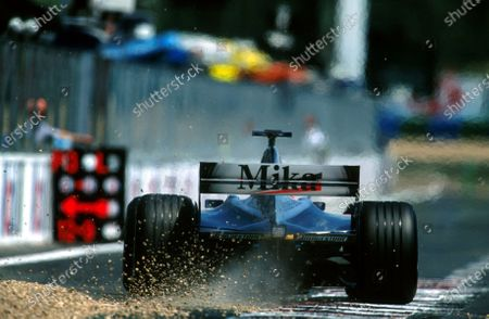 Stock Photo of Mika Hakkinen(FIN) McLaren Mercedes MP4/16 had another Grand Prix to forgetFrench Grand Prix, Magny Cours, 1 July 2001BEST IMAGE