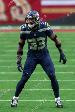 Seattle Seahawks strong safety Jamal Adams (33) reacts on the field during an NFL football game against the San Francisco 49ers, in Glendale, Ariz