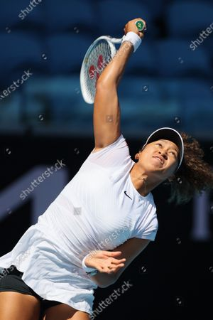 2nd seed Naomi Osaka of Japan in action against Katie Boulter of Great Britain in a third round match of the Gippsland Trophy Women's Singles tournament prior to the Australian Open Grand Slam tournament in Melbourne, Australia. Osaka won 36 63 61