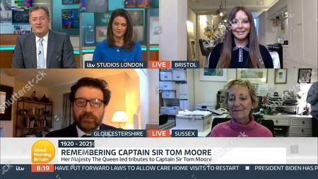 Stock Image of Piers Morgan, Susanna Reid, Carol Vorderman, Nick Knowles and Virginia Lewis-Jones