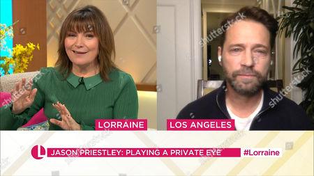 Lorraine Kelly and Jason Priestley