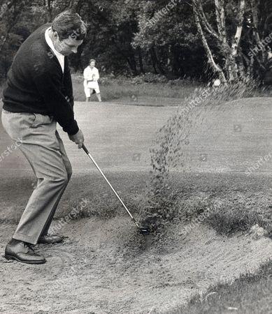 Stock Photo of Peter Alliss Golfer Seen In Action. Rexmailpix.