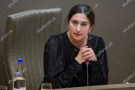Flemish Minister of Environment, Energy, Tourism and Justice Zuhal Demir pictured during a plenary session of the Flemish Parliament in Brussels, Wednesday 03 February 2021.