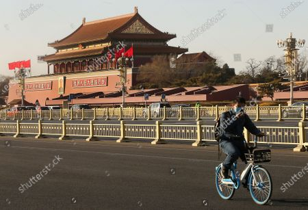 Editorial photo of Tiananmen Square, Beijing, China - 03 Feb 2021