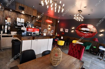 A general view of atmosphere of Lips Cafe in the East Flatbush neighborhood of Brooklyn, New York City.