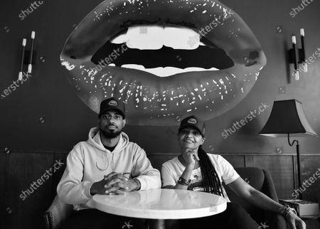 Editorial photo of Lips Cafe portrait session, Brooklyn, New York, USA - 03 Feb 2021