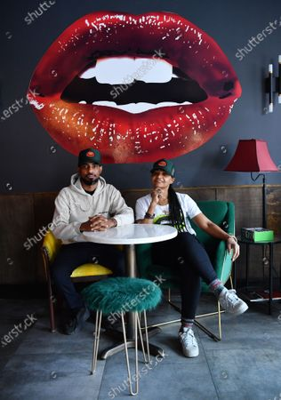 Editorial image of Lips Cafe portrait session, Brooklyn, New York, USA - 03 Feb 2021