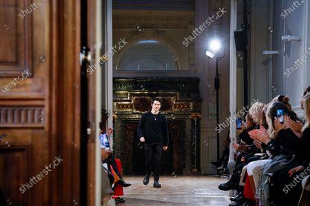 Stock Picture of Joseph Altuzarra on the catwalk at the Altuzarra Fashion show in Paris, Fall Winter 2020, Ready to Wear Fashion Week