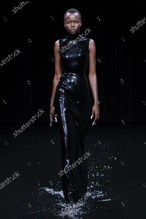 Editorial photo of Balenciaga show, Runway, Fall Winter 2020, Paris Fashion Week, Seine-Saint-Denis, France - 01 Mar 2020