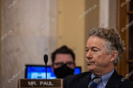 WASHINGTON, DC - FEBRUARY 03: United States Senator Rand Paul (Republican of Kentucky) during the Confirmation Hearing Held For SBA Administrator Nominee Isabella Casillas Guzman at the US Capitol in Washington, DC.Previously Guzman served as the Director of California's Office of the Small Business Advocate. (Photo by Tasos Katopodis/Getty Images)