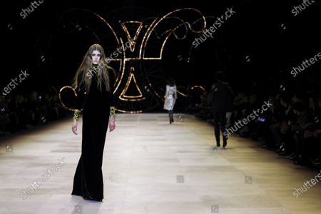 Editorial picture of Celine show, Runway, Fall Winter 2020, Paris Fashion Week, Les Invalides, France - 28 Feb 2020