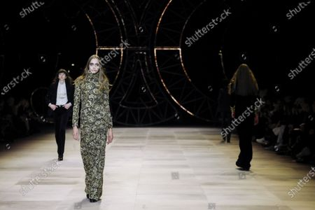 Editorial photo of Celine show, Runway, Fall Winter 2020, Paris Fashion Week, Les Invalides, France - 28 Feb 2020